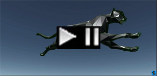 3D cad abstract running jaguar hunting-leopard 2015