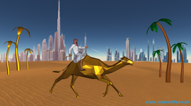 Development of 3D designs for 3D steel sculpture models Golden Camel Race in Dubai with abstract steel palms. Project study 3D CAD