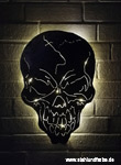 Led metal wall picture skull, backlit.