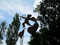 garden stakes metal sheet angel of love.