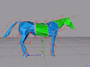 Prototype 3D CAD abstract steel horse.