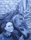 Modern style painting horse portrait.
