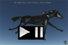 Prototype 3D CAD abstract steel racehorse 2013