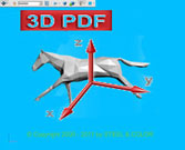 Racehorse abstract 3D