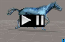 Running 3D CAD abstract steel racehorse 2012