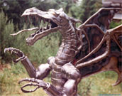 Steel sculpture dragon of the 1st generation.